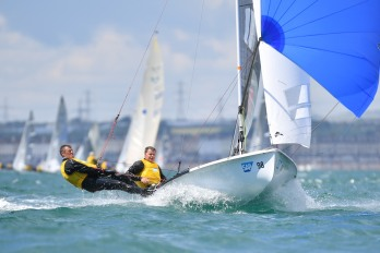 2 Pinnell and Davies pile on the power downwind