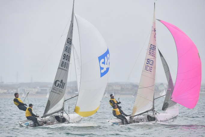 DAY 3 1 Nathan Batchelor and Sam Pascoe poer past Andy Smith and Tim Needham in Race 4